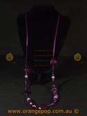 Purple beaded women's necklace