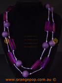 Long purple women's necklace