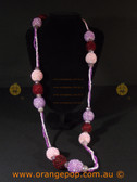 Chunky purple detailed women's necklace