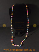 Long Multi coloured women's necklace