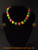 Retro Multi coloured women's necklace