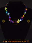 Multi coloured shell like women's necklace