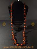 Retro brown/orange women's necklace