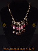 Purple and pink women's necklace