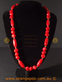 Retro red women's necklace