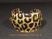 Leopard print women's cuff/bracelet