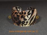 Leopard and zebra print women's cuff/bracelet