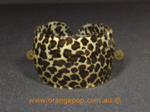 Cheetah/animal print women's cuff/bracelet
