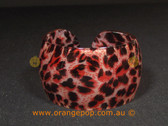 Red tone animal print women's cuff/bracelet