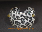 Monochrome animal printed women's cuff/bracelet