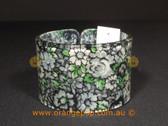 Grey floral print women's cuff