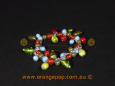 Mixed colour beaded bracelet