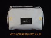 Napoleon Perdis Limited Edition White with Brown trim makeup bag
