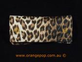 Napoleon Perdis Limited Edition Leopord print Black makeup bag/clutch