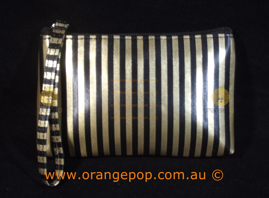 ace4f131bb5 Napoleon Perdis Limited Edition Gold & Black stripe clutch/purse makeup bag.  Price: $24.90. Image 1