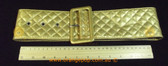 Decuba Gold quilted pattern Women's Ladies Fashion Belt