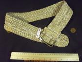 Wide snake print braided Women's Ladies Fashion Belt