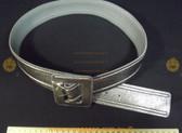 Metallic Silver Women's Ladies Fashion Belt