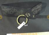 Floral pattern Suede feel black Women's Ladies Fashion Belt