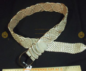 JAG metallic silver/white braided leather Women's Ladies Fashion Belt RRP $59.95