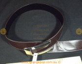 Retro/Vintage brown leather look silver buckle Women's Ladies Fashion Belt