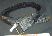 Black braided Women's Ladies Fashion Belt
