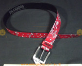 BILLABONG red with skulls, paisley patternWomen's Ladies Fashion Belt
