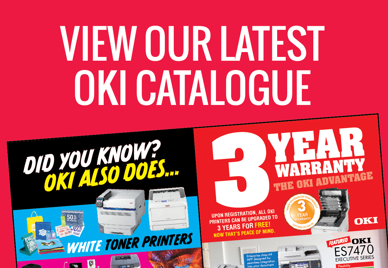 View our latest OKI catalogue