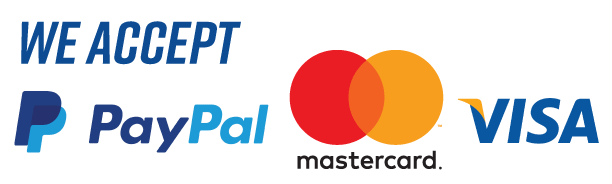 We accept payments via Paypal, Mastercard, VISA