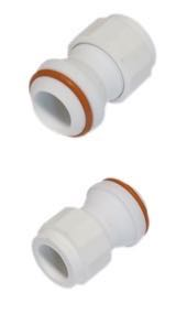 "Ball Joint Glass-Filled PTFE 28/12 to 5/8"" Compression Fitting"