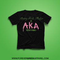 PRETTY GIRLS PLEDGE AKA BLACK TEE
