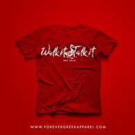 WALK IT LIKE I TALK IT RED TEE