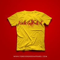 WALK IT LIKE I TALK IT RED YELLOW TEE