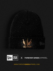 NEW ERA - BLACK AND GOLD SPECKLED ALPHAS BEANIE