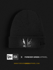 NEW ERA - GREY AND SILVER SPECKLED ALPHAS BEANIE