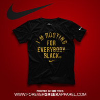 NIKE I'M ROOTING FOR EVERYBODY BLACK TEE