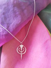 Pendant in Silver with Diamond centre
