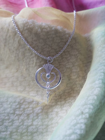 Pendant in Silver with Topaz Gemstone