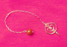 Small Silver Pendulum with Jasper