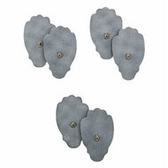 Three sets of standard electrode pads that comes with any portable tens unit by Utopia Gear.