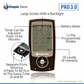 Pro 3.0 portable TENS unit showing display features.