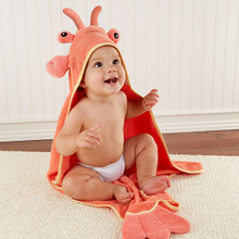 """Lobster Laughs"" Lobster Hooded Towel"