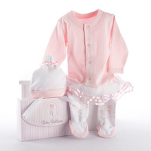 "Baby Ballerina Two-Piece Layette Set in ""Studio"" Gift Box"