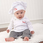 Baby Chef Three Piece Layette in Culinary Themed Gift Box