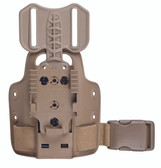 Safariland Model 6004-27 Single Strap Leg Shroud w/ Drop Flex Adapter & QLS 22 FDE