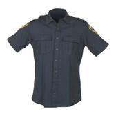 Blauer 8135 Zippered Short Sleeve Shirt