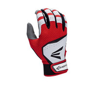 Easton HS VRS White/Red Batting Gloves