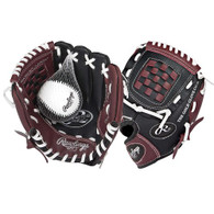 Rawlings Players Youth Left Handed T-Ball Glove 9 inch PL90MB-RH