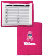 "Wilson QB Single Window 5"" Pink Breast Cancer Wrist Coach"
