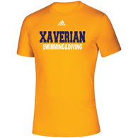 Xaverian HS Adidas Team Climalite WRDS SS Tee - Swimming&Diving